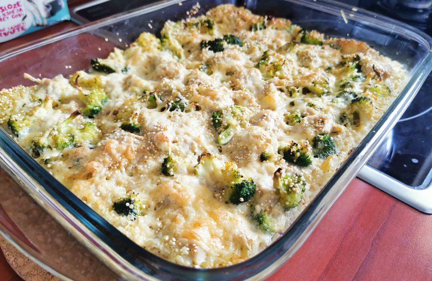 Brokolių ir Vištienos su sūriu receptas
