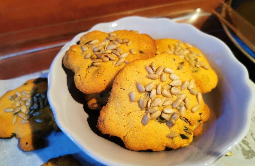 Greiti sausainiai iš žirnių miltų