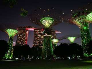 Singapore beautiful Super trees and Marina Bay 😎😍🇸🇬