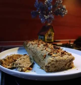 Our family traditional vegan banana bread. Have a nice Christmas evening for eve