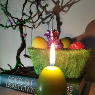 Easter magic is coming! 😀🐲✨  #mycrafts #got #magic #gameofthrones #happyeaster #drogon #easter #eggs #firedragon #gotmagic #winteriscoming #book #lovegot #dragonegg #magicforest #modeline #targaryen #figure #hbo #gameofthronesmemes #eastermagic #gotbooks  #gotseries #booklover #myhobby #canddle #dragoneggs #clayart #polymerclay #claysculpture